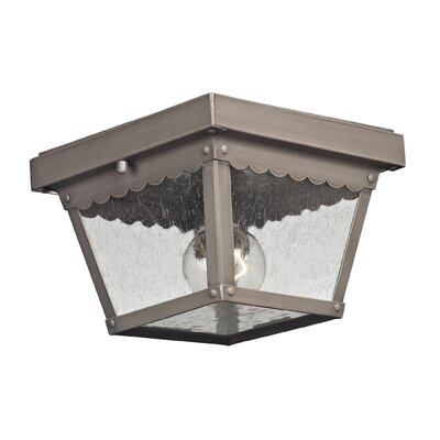 Springfield 2-Light Flush Mount Finish: Dark Pewter
