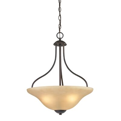 Follett 3-Light Mini Pendant Finish/Glass Finish: Oil Rubbed Bronze/Light Amber