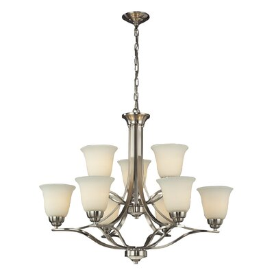 Chaitanya 9-Light Candle-Style Chandelier Bulb Type: Incandescent