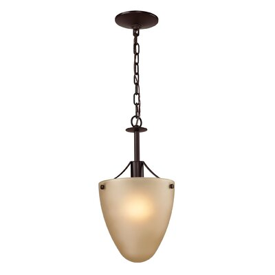 Jackson 1-Light Mini Pendant Finish/Glass Color: Oil Rubbed Bronze/Light Amber
