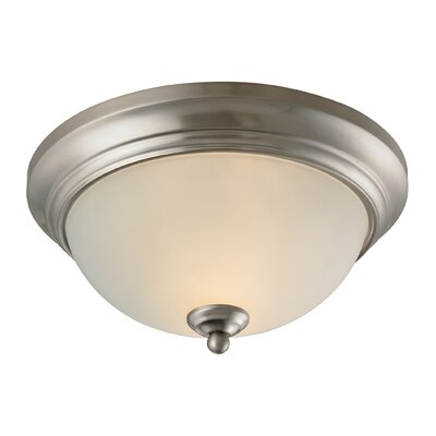 Fremantle 2-Light Flush Mount Finish: Brushed Nickel