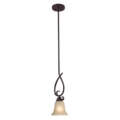 Brighton 1-Light Mini Pendant Finish/Glass Color: Oil Rubbed Bronze/Light Amber