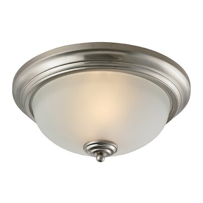 Fremantle 3-Light Flush Mount Finish/Glass Finish: Brushed Nickel/White