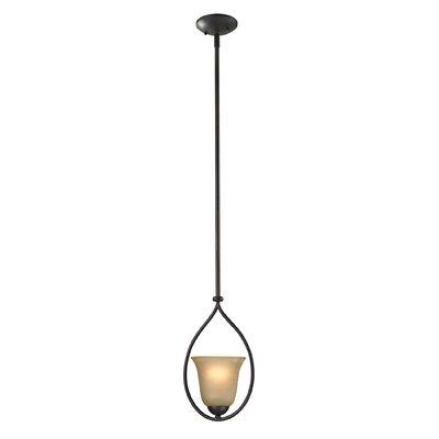 Conway 1-Light Mini Pendant Finish/Glass Color: Oil Rubbed Bronze/Light Amber