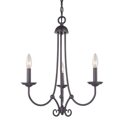 Williamsport 3-Light Candle-Style Chandelier