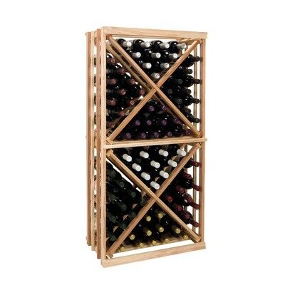 Vintner Series 192 Bottle Floor Wine Rack Finish: Midnight Black