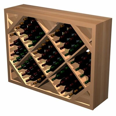 Designer Series 132 Bottle Floor Wine Rack Finish: Unstained Premium Redwood