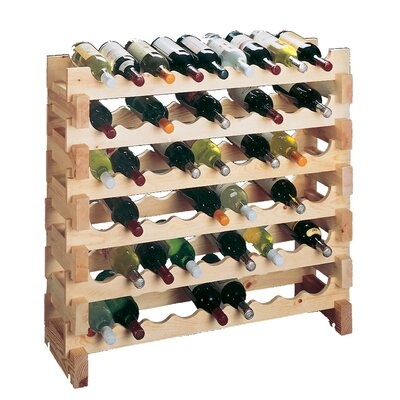 Country Pine 9 Bottle Floor Wine Rack