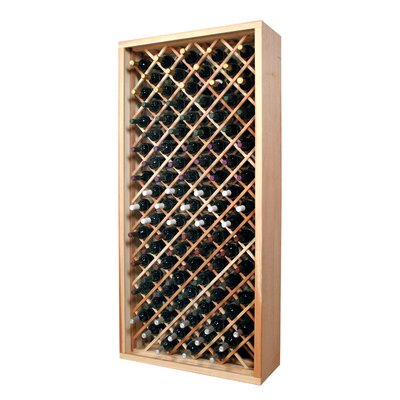 Designer Series 90 Bottle Floor Wine Rack Finish: Midnight Black Stained Premium Redwood