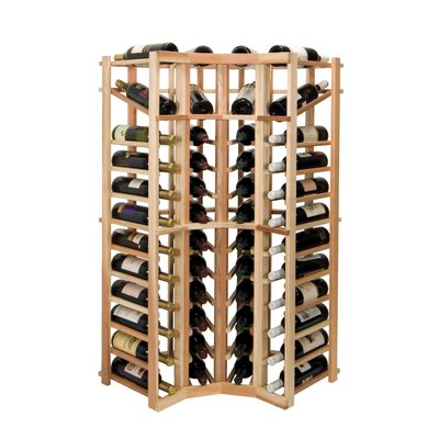 Vintner Series 44 Bottle Floor Wine Rack Finish: Midnight Black