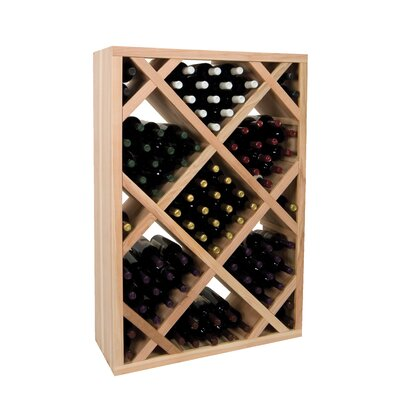 Vintner Series 151 Bottle Floor Wine Rack Finish: Midnight Black