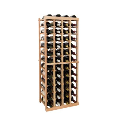 Vintner Series 52 Bottle Floor Wine Rack Finish: Midnight Black