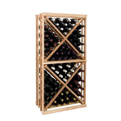 Vintner Series 96 Bottle Floor Wine Rack Finish: Dark Walnut