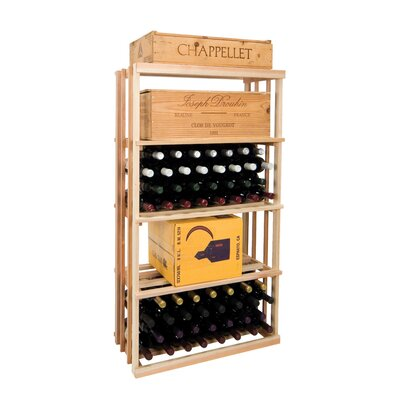 Vintner Series 120 Bottle Floor Wine Rack Finish: Midnight Black