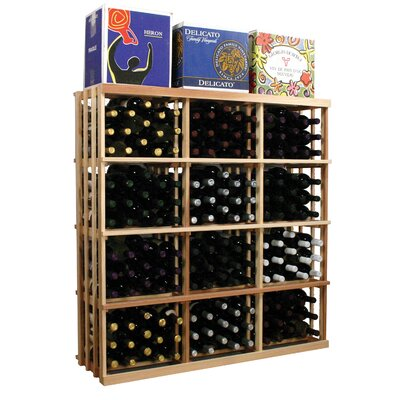 Vintner Series 180 Bottle Floor Wine Rack Finish: Dark Walnut