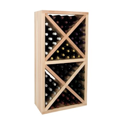 Vintner Series 78 Bottle Floor Wine Rack Finish: Midnight Black