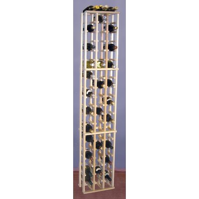Premium Redwood 63 Bottle Floor Wine Rack