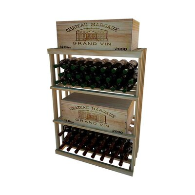 1 Column Rectangular 48 Bottle Floor Wine Rack