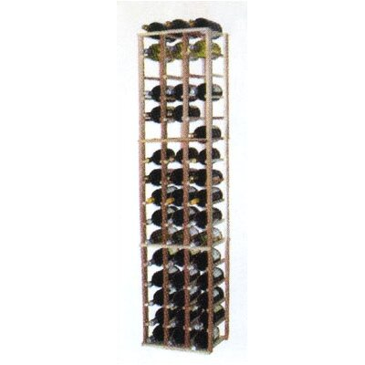 Designer Series 48 Bottle Floor Wine Rack Finish: Midnight Black Stained Premium Redwood