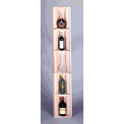 Traditional Series Redwood Triangular 5 Bottle Floor Wine Rack