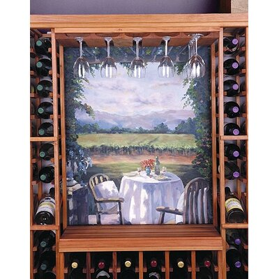 Designer Series Hanging Wine Glass Rack Finish: Dark Stained Premium Redwood