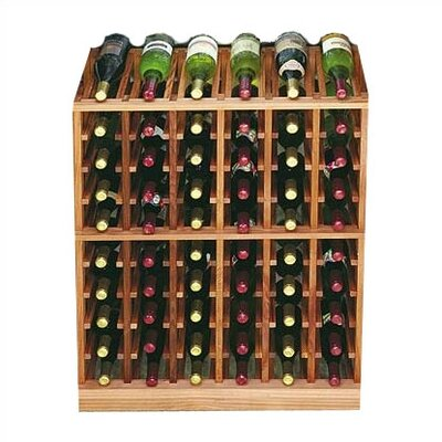 Designer Series 60 Bottle Floor Wine Rack Finish: Midnight Black Stained Premium Redwood