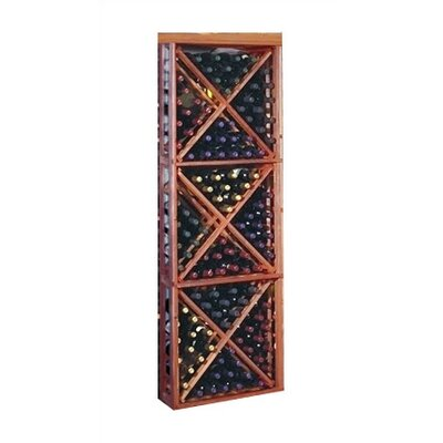 Designer Series 132 Bottle Floor Wine Rack Finish: Pine Classic Mahogany  Stain with Elite Lacquer