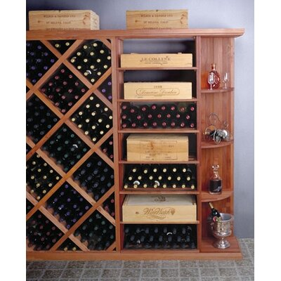 Designer Series 4 Bottle Floor Wine Rack Finish: Classic Stained Premium Redwood