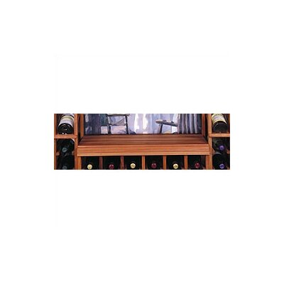 Designer Floor Wine Bottle Rack Finish: Midnight Black Stained Premium Redwood