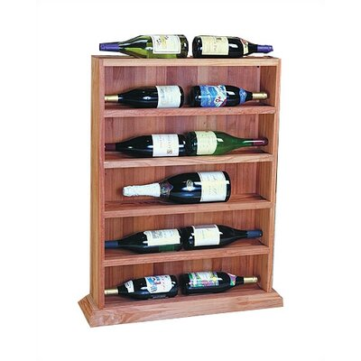 Designer Series 12 Bottle Floor Wine Rack Finish: Midnight Black Stained Premium Redwood