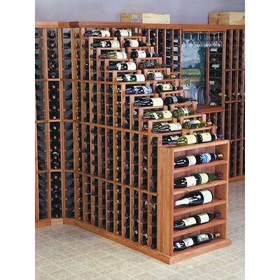 Designer Series 270 Bottle Floor Wine Rack Finish: Midnight Black Stained Premium Redwood