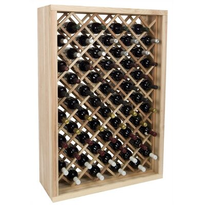 Vintner Series 58 Bottle Floor Wine Rack Finish: Midnight Black