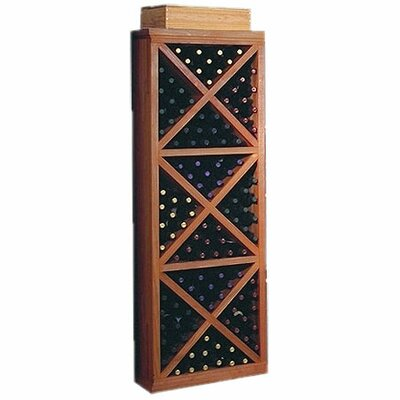 Designer Series 132 Bottle Floor Wine Rack Finish: Dark Stained Premium Redwood