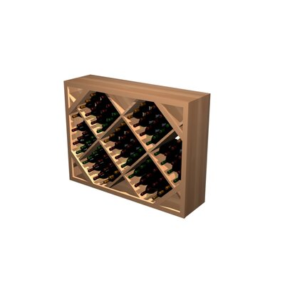 Designer Series 132 Bottle Floor Wine Rack Wood Type: Rustic Pine, Finish: Midnight Black