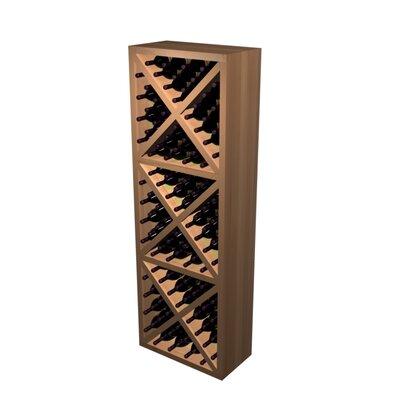 Wine Cellar Designer Series 132 Bottle Diamond Cube Wine Rack - Wood Type: Rustic Pine, Finish: Classic Mahogany