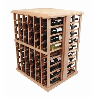 Designer Series 108 Bottle Floor Wine Rack Wood Type: Premium Redwood, Finish: Dark Walnut