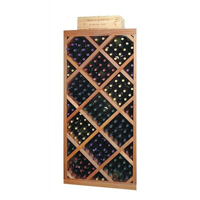 Designer Series Diamond 212 Bottle Floor Wine Rack Finish: Unstained Premium Redwood