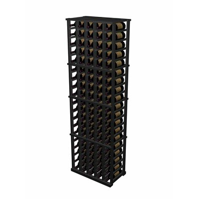 Designer Series 100 Bottle Floor Wine Rack Finish: Midnight Black Stained Premium Redwood