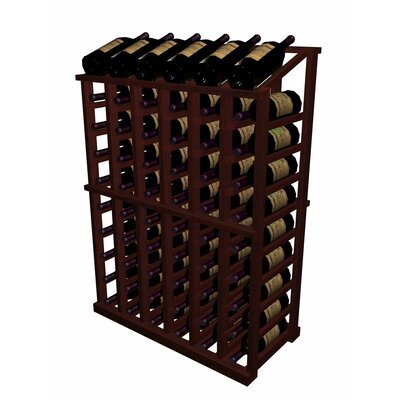 Designer Series 66 Bottle Floor Wine Rack Finish: Midnight Black Stained Premium Redwood