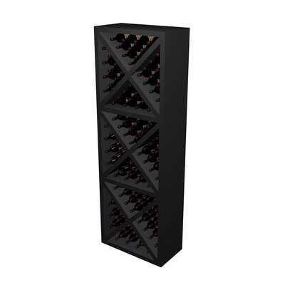 Designer Series 132 Bottle Floor Wine Rack Finish: Midnight Black Stained Premium Redwood