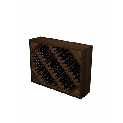 Designer Series 132 Bottle Floor Wine Rack Wood Type: Rustic Pine, Finish: Dark Walnut