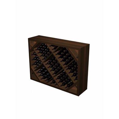 Designer Series 132 Bottle Floor Wine Rack Wood Type: Rustic Pine, Finish: Dark Walnut