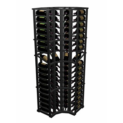 Designer Series 72 Bottle Floor Wine Rack Finish: Midnight Black Stained Premium Redwood