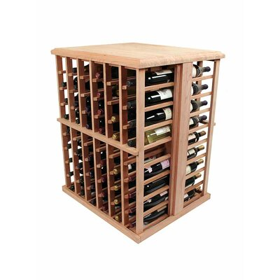 Designer Series 108 Bottle Floor Wine Rack Wood Type: Premium Redwood, Finish: Classic Mahogany