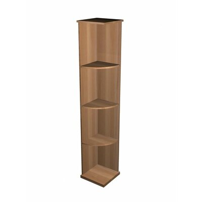 Designer Series Floor Wine Rack Wood Type: Rustic Pine, Finish: Midnight Black