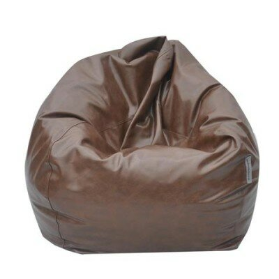 The Big Pear Bean Bag Chair Upholstery: Brown