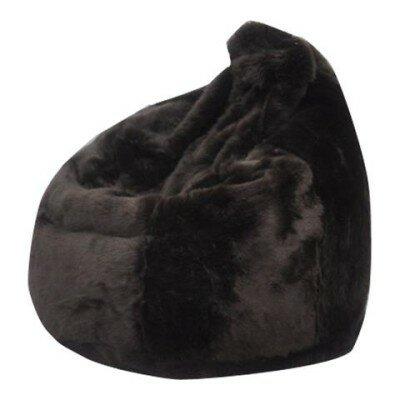 Posh Bean Bag Chair Upholstery: Brown