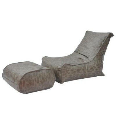 Zen Bean Bag Set Upholstery: Gray