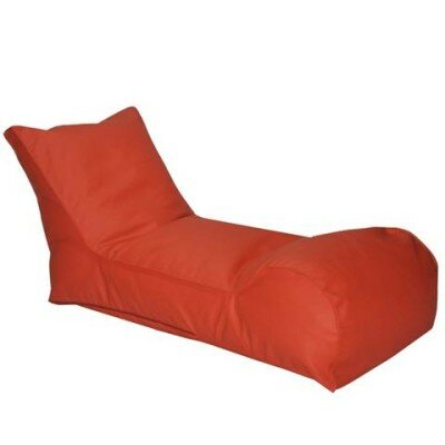 The Chillaxer Bean Bag Lounger Upholstery: Orange