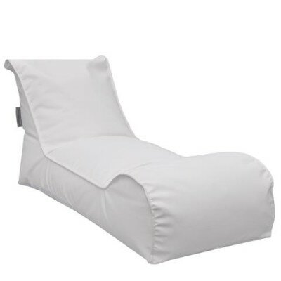 The Chillaxer Bean Bag Lounger Upholstery: White